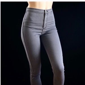 AMERICAN APPAREL || gray easy jean high waist Sm